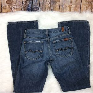 7FAM Medium Wash Flare Jeans 25